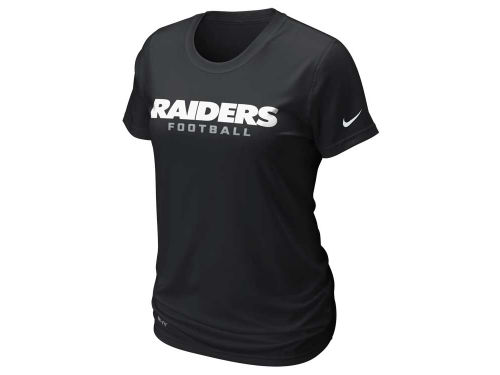 Oakland Raiders Nike NFL Womens Legend Wordmark T-Shirt