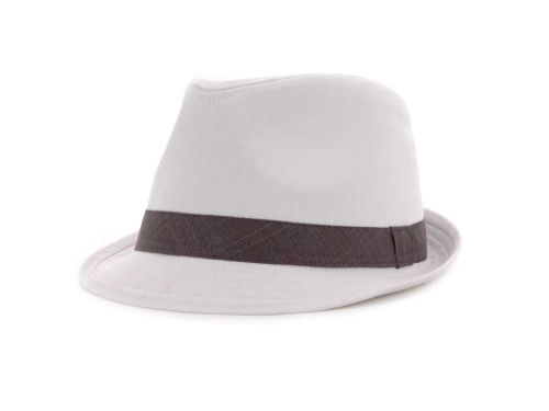 LIDS Private Label PL White Fedora With Tonal Band Hats