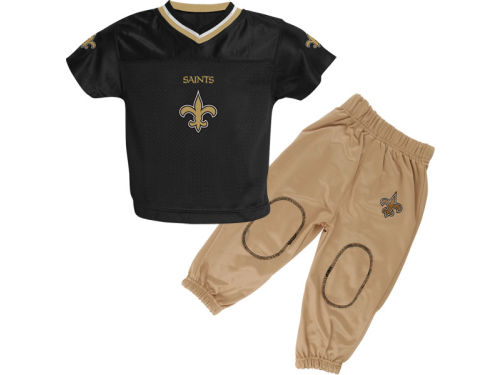 New Orleans Saints Outerstuff NFL Toddler Football Jersey and Pant Set