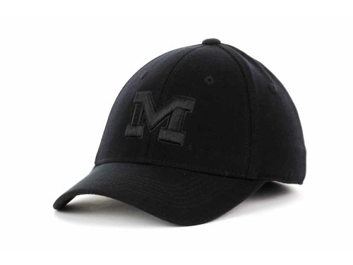 Michigan Wolverines Top of the World NCAA Black Tonal PC Cap Hats