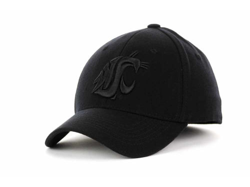 Washington State Cougars Top of the World NCAA Black Tonal PC Cap Hats