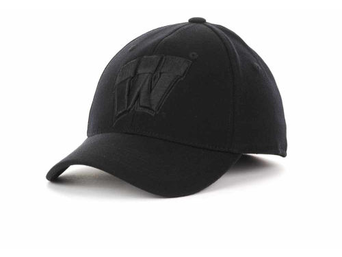 Wisconsin Badgers Top of the World NCAA Black Tonal PC Cap Hats