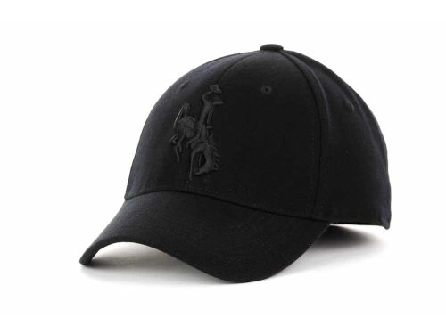Wyoming Cowboys Top of the World NCAA Black Tonal PC Cap Hats