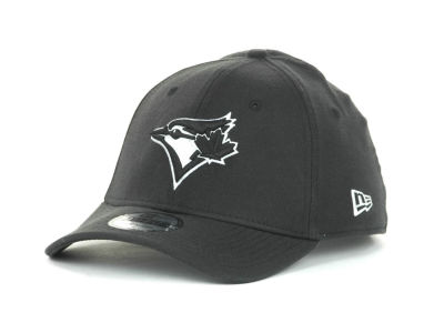 Toronto Blue Jays MLB Black and White Ace 39THIRTY Hats