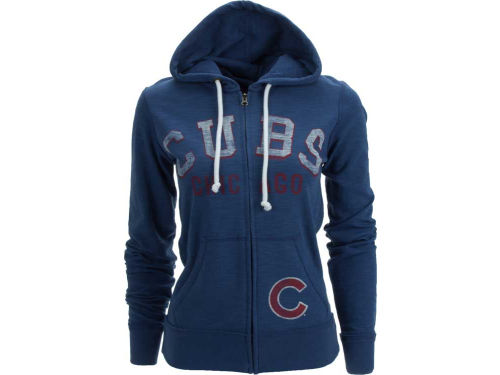 Chicago Cubs '47 Brand MLB Womens Slugger Full Zip Hood