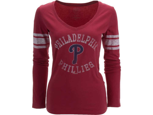 Philadelphia Phillies '47 MLB Women's Homerun Long Sleeve T-Shirt