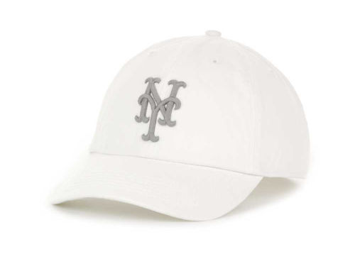New York Mets '47 Brand MLB Grayscale Franchise Cap Hats