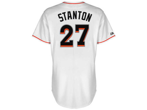 Miami Marlins Giancarlo Stanton Majestic MLB Player Replica Jersey