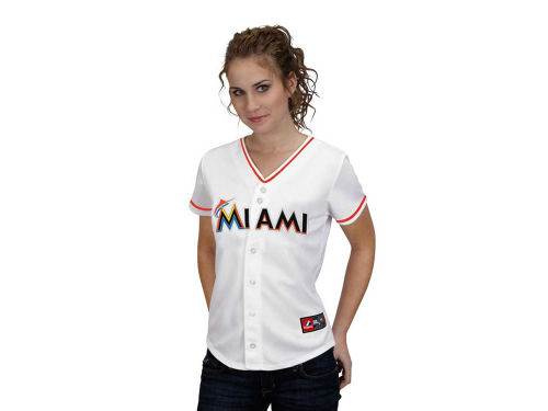 Miami Marlins Hanley Ramirez Majestic MLB Women's Replica Jersey