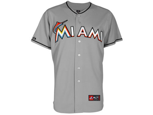 Miami Marlins Majestic MLB Blank Replica Jersey