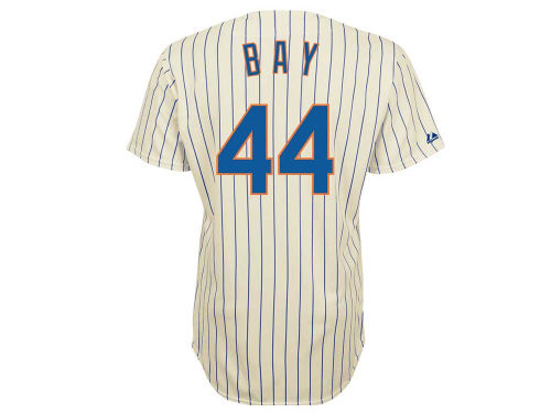 New York Mets Jason Bay Majestic MLB Player Replica Jersey MD