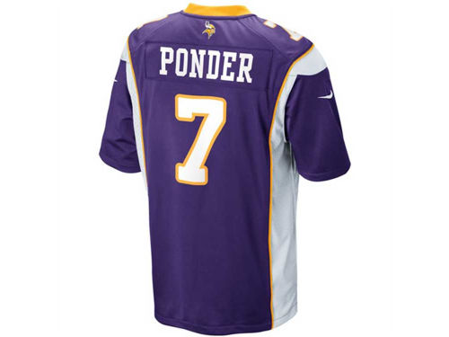 Minnesota Vikings Christian Ponder Nike NFL Youth Game Jersey