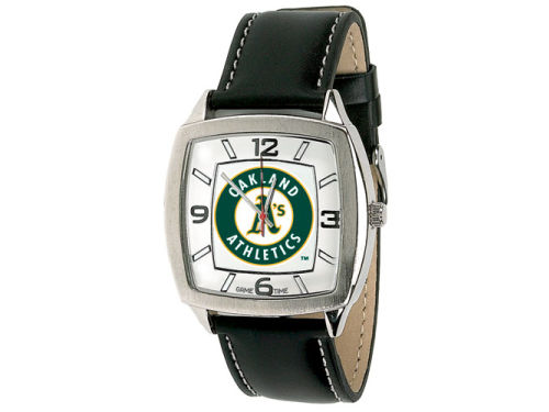 Oakland Athletics Game Time Pro Retro Leather Watch
