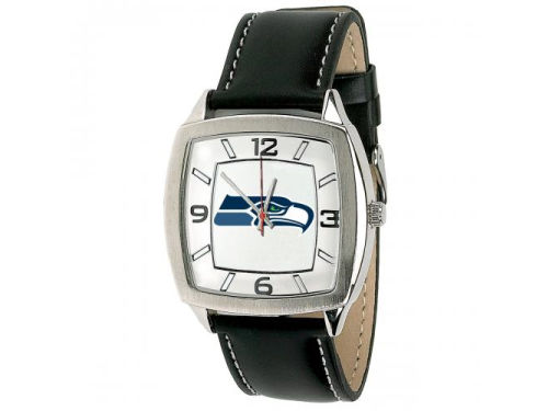 Seattle Seahawks Retro Leather Watch