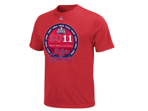 St. Louis Cardinals Majestic MLB World Series Champs Commemorative T-Shirt