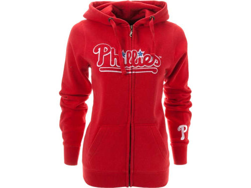 Philadelphia Phillies MLB Womens Full Zip Spirit Hoodie