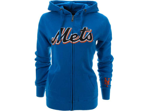New York Mets MLB Womens Full Zip Spirit Hoodie