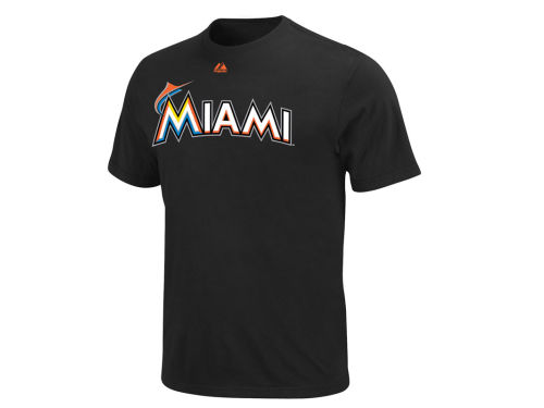 Miami Marlins Majestic MLB Youth Official Wordmark T-Shirt
