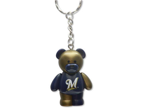Milwaukee Brewers PVC Bear Keychain