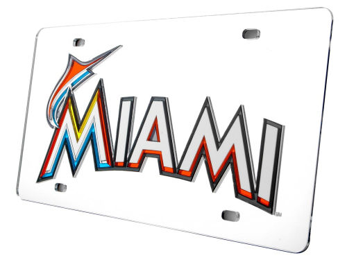 Miami Marlins Rico Industries Acrylic Laser Tag