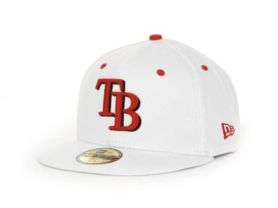 Tampa Bay Rays MLB White BC 59FIFTY Hats