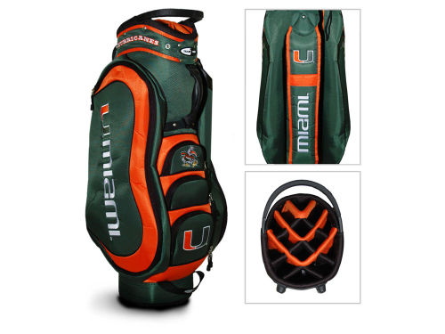 Miami Hurricanes Team Golf NCAA Medal Cart Bag