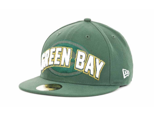 Green Bay Packers New Era NFL 2012 Draft 59FIFTY Hats