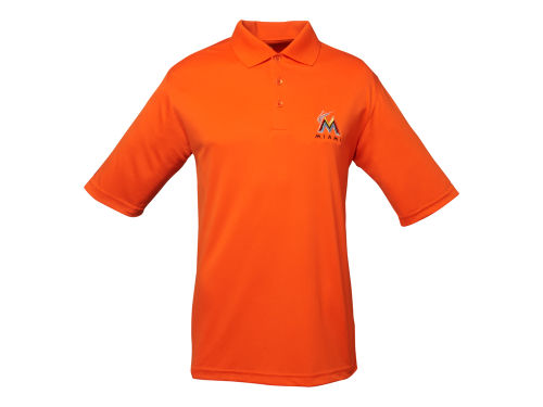 Miami Marlins Antigua MLB Men's Exceed Polo Shirt