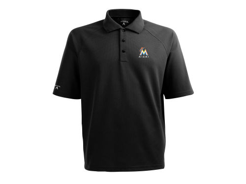 Miami Marlins Antigua MLB Whisper Polo