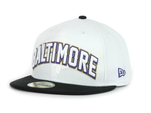 Baltimore Ravens New Era NFL White Draft 59FIFTY Hats