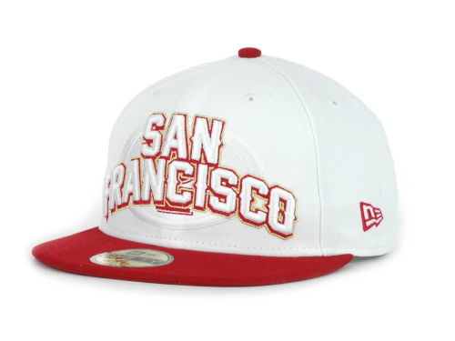 San Francisco 49ers New Era NFL White Draft 59FIFTY Hats