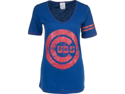 Chicago Cubs MLB Womens Tunic Baby Jersey T-Shirt 1003