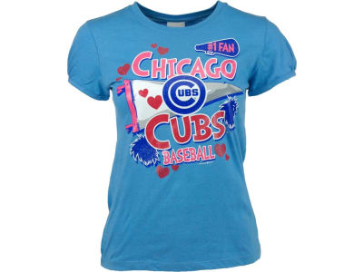 Chicago Cubs MLB Girls #1 Fan Baby Jersey Vneck T-Shirt