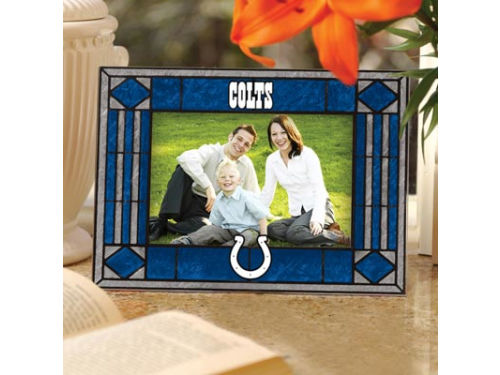 Indianapolis Colts Art Glass Picture Frame