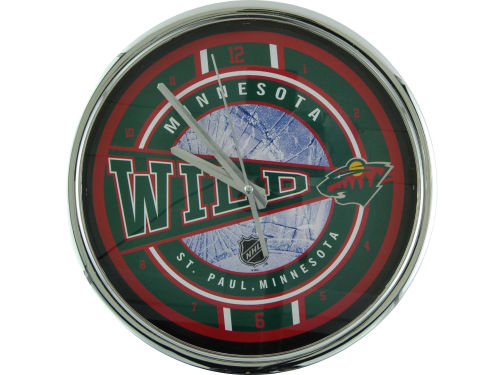 Minnesota Wild Chrome Clock