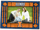 Illinois Fighting Illini Art Glass Picture Frame Bed & Bath