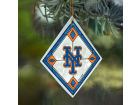 New York Mets Art Glass Ornament Holiday