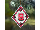 North Carolina State Wolfpack Art Glass Ornament Holiday