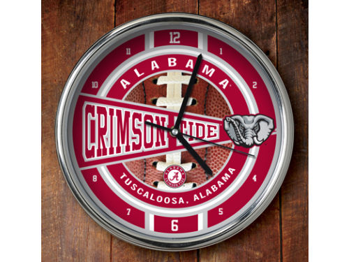 Alabama Crimson Tide Chrome Clock