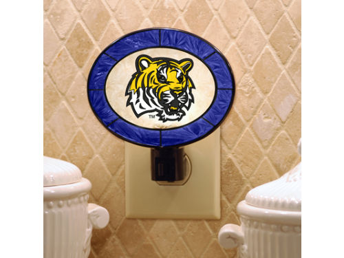 LSU Tigers Art Glass Night Light