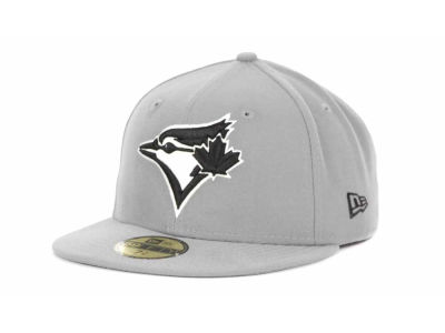 Toronto Blue Jays MLB Gray BW 59FIFTY Hats