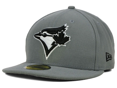 Toronto Blue Jays New Era MLB Gray BW 59FIFTY Cap Hats