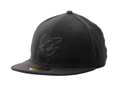 Baltimore Orioles MLB Black on Black Fashion 59FIFTY Hats
