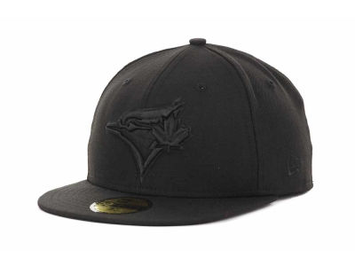 Toronto Blue Jays MLB Black on Black Fashion 59FIFTY Hats