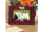 Miami Heat Art Glass Picture Frame Bed & Bath