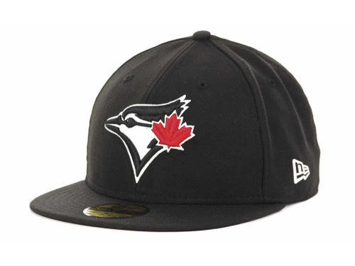 Toronto Blue Jays New Era MLB Black and White Fashion 59FIFTY Hats