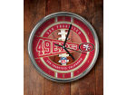 San Francisco 49ers Chrome Clock Bed & Bath