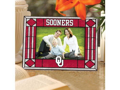 Oklahoma Sooners Art Glass Picture Frame