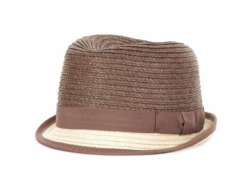 LIDS Private Label PL Two Tone Straw Fedora Hats