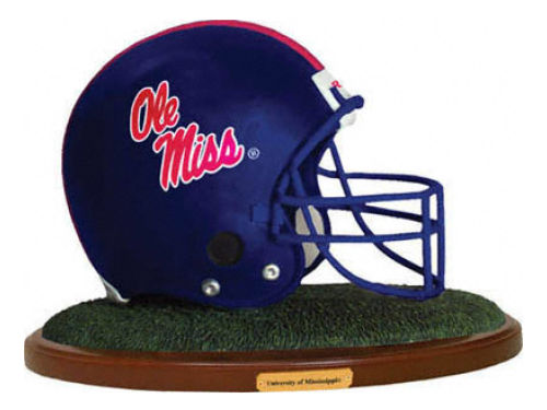 Mississippi Rebels Replica Helmet with Wood Base